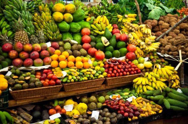 Frutas na feira livre
