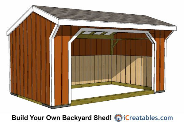 12x16 Run In Shed | Lean To Shed Plans | Pinterest | Barn ...