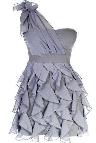 Chandelier Frills DressCocktails Dresses, Style, Cute Dresses, Bridesmaid Dresses, Colors, One Shoulder, Ruffles Dresses, Grey Dresses, Dreams Closets