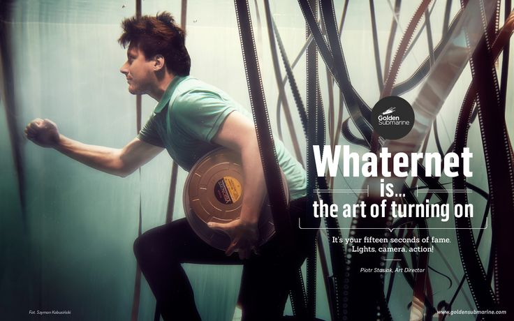 #whaternet is... the #art of turning on. It's your fifteen seconds of fame. Lights, camera, action!