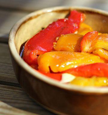 Poivrons grillés à l'huile d'olive et à l'ail - Ôdélices : Recettes de cuisine faciles et originales !