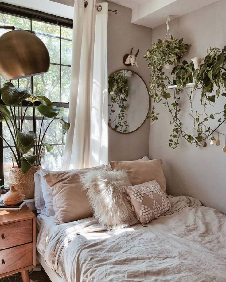 Relaxing Bohemian Bedroom Design Ideas in 2020 | Aesthetic ...