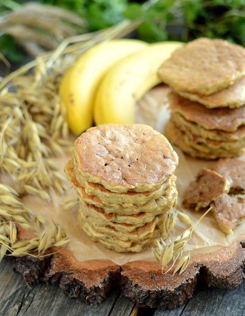 Gotuj z Cukiereczkiem: Owsiane placuszki bananowe