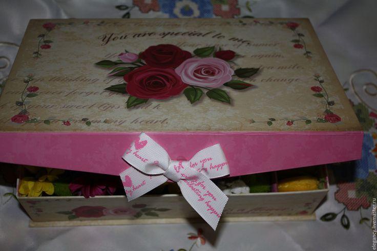 Купить С днем рождения - коробочка, коробочка для подарка, коробка подарочная, флористическая губка, цветы