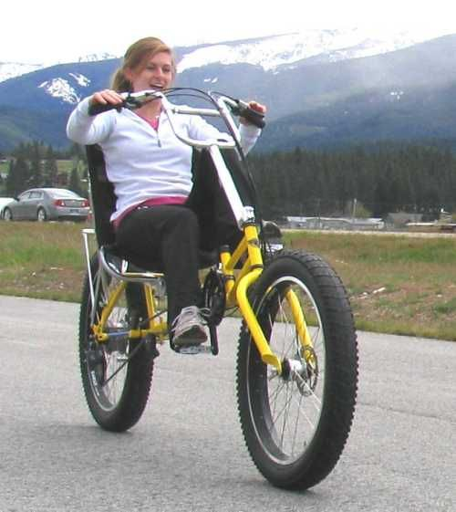 Recumbent mountain bike.