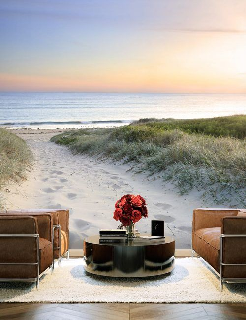Carta da Parati Spiaggia Deserta  Carta da Parati Fotomurale Tema Paesaggi
