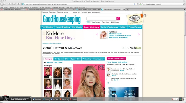 Is she planning on trying out a new look before stepping foot on campus? Have her test it out first by uploading her photo into our Virtual Haircut & Makeover Tool! http://www.goodhousekeeping.com/beauty/virtual-haircut-makeover