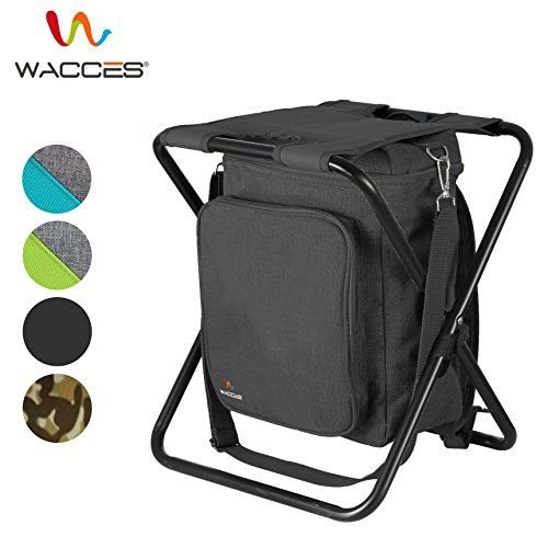 Wacces Multi-Purpose Backpack Chair/ Stool with Cooler Bag for Hiking/Fishing/Camping/Picnicking (Black). For product & price info go to:  https://all4hiking.com/products/wacces-multi-purpose-backpack-chair-stool-with-cooler-bag-for-hiking-fishing-camping-picnicking-black/