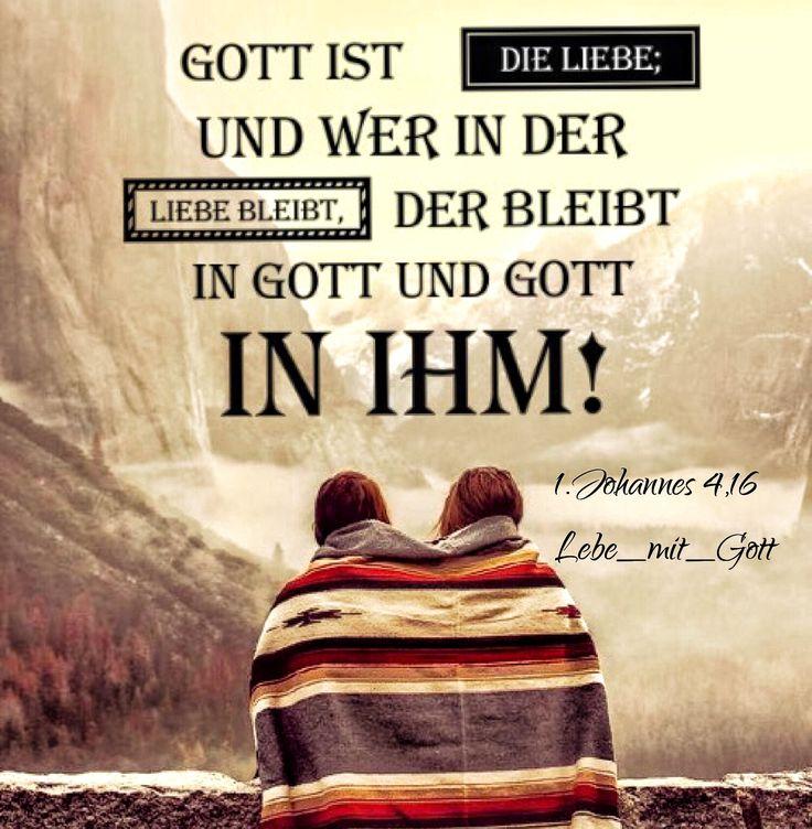 Gott ist die Liebe; und wer in der Liebe bleibt, der bleibt in Gott und Gott in ihm! 1.Johannes 4,16