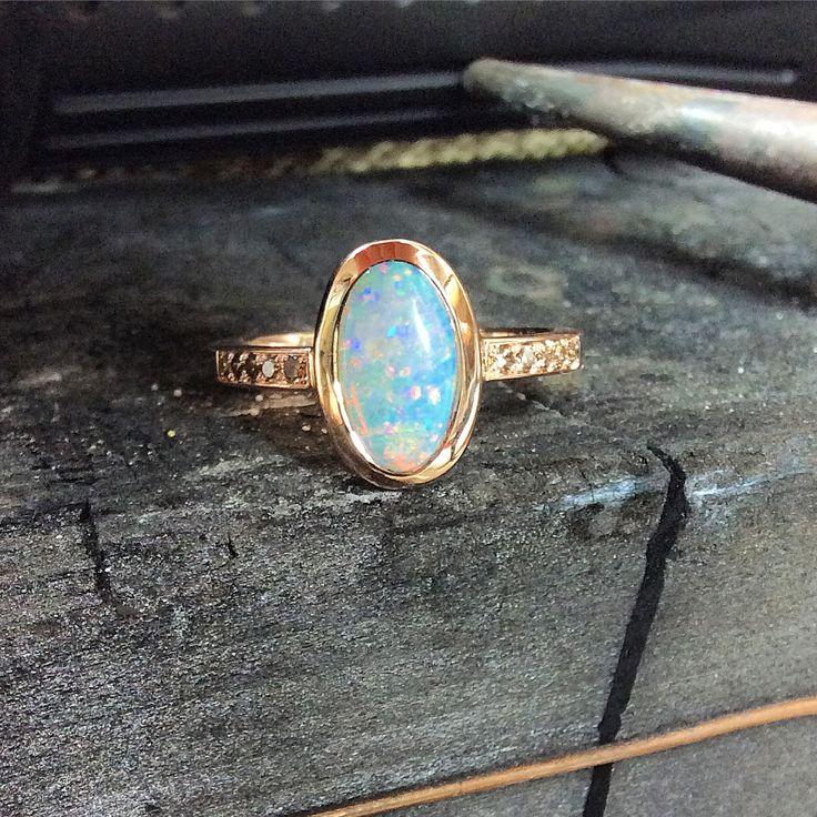 Bespoke opal ring in rose gold