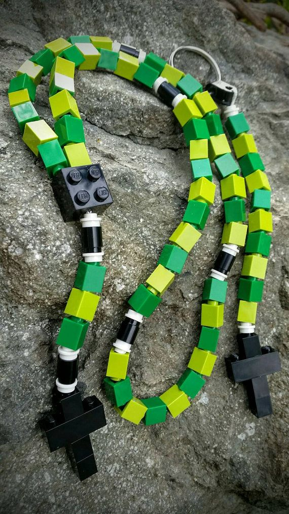 Boy's First Communion Gift Special-Lego Rosary and by MementoMoose