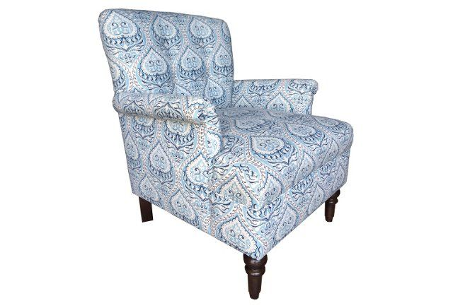 Best Roxy Club Chair Blue Paisley Club Chairs Armchair Chair 400 x 300
