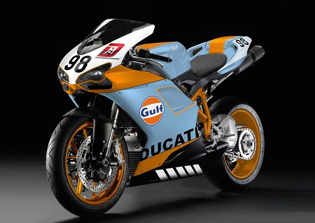 Gulf-Ducati 1098R. Beautiful!