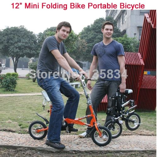 "427.00$  Buy here - http://alit0u.worldwells.pw/go.php?t=2044542853 - ""12"""" Mini Folding Bike Brand Travel bike Mini Bicycle Bicicleta 5 Spokes Including Free Gift Bag 3in1 City Bike BMX Portable Bike"" 427.00$"