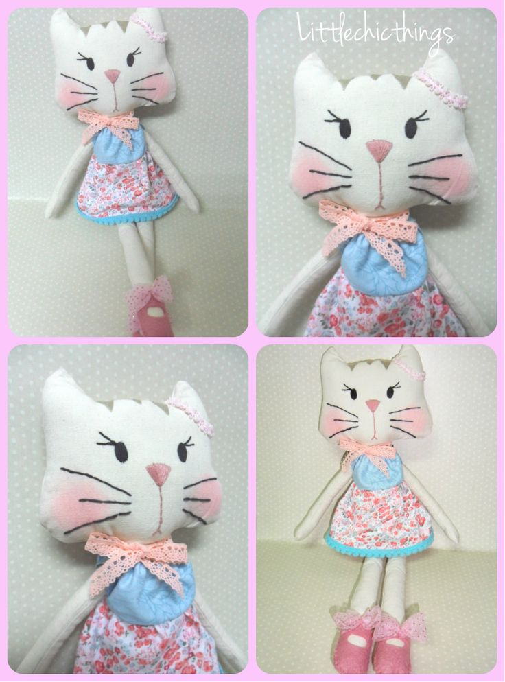 One of a kind handmade Kitty by Littlechicthings.