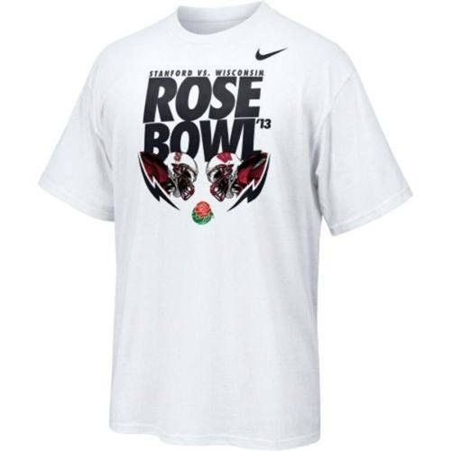 Stanford Cardinals vs Wisconsin Badgers 2013 Rose Bowl t-shirt Nike new Football