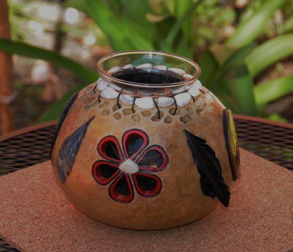 Gourd Candle Holder / Vase Holder   2 for 1  cut by willeydesigns, $40.00