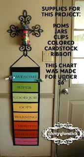Pretty AND Cheap Behavior Chart Behavior chart instructions Behavior chart tutorial #kids #behavior #chart #life #school #classroom #teacher #DIY #mom #home #budget #pretty #cheap #design