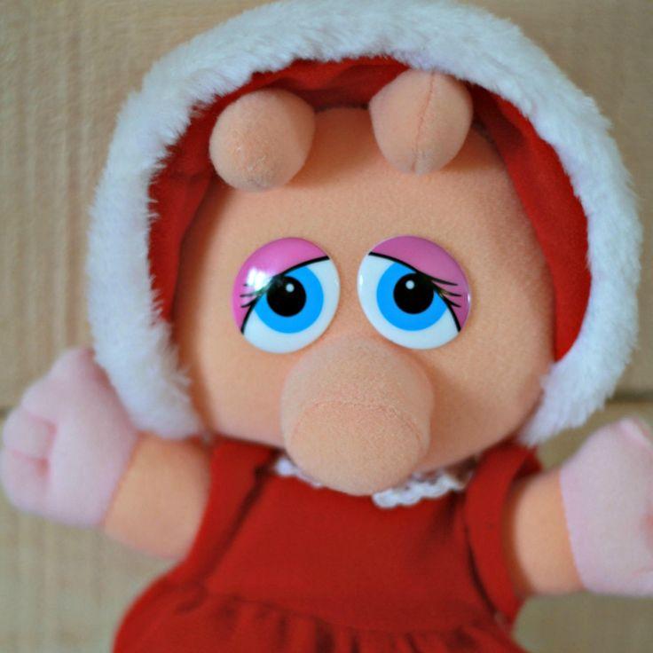 Peluche bébé  Miss Piggy 1987, Peluche de noel, 80s Tv show, Peluche Muppets, Peluche Mcdonald, Cadeau enfant, Cadeau noel, Enfant 80s de la boutique PastelEtPixel sur Etsy