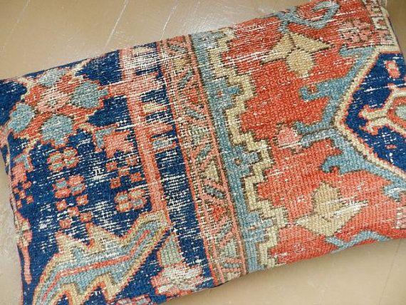 Persian Rug Pillow Kilim Pillow Oriental Carpet