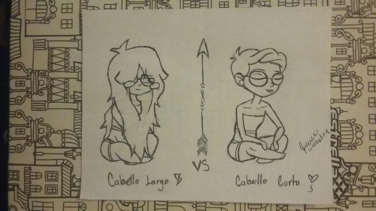 Cabello largo vs cabello corto Animación?