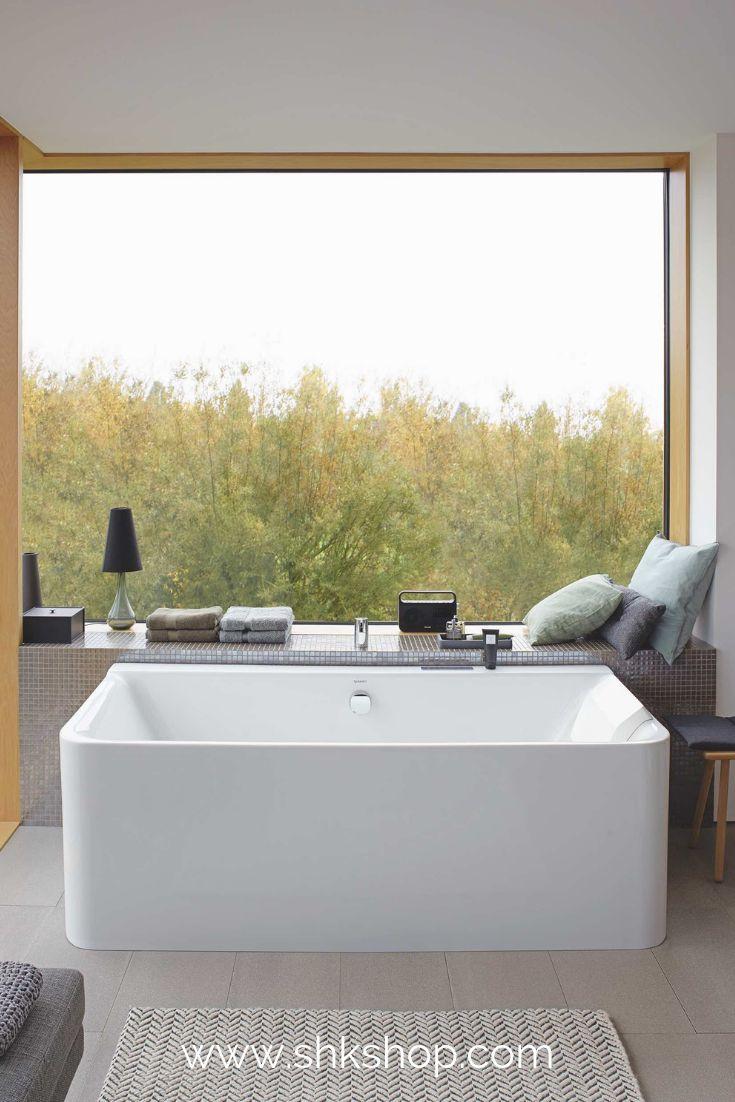 Duravit P3 Comforts Badewanne Vorwandversion, 180x80cm, 700381, mit nahtloser Acrylverkleidung, Gestell, zwei R�ckenschr�gen