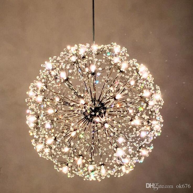 Dandelion Led Chandeliers European Creative K9 Crystal