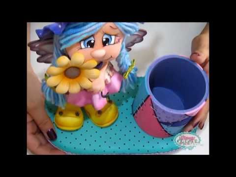 Como hacer una Hada Fofucha en foamy / ADINA CURSO COMPLETO | KLOF - YouTube