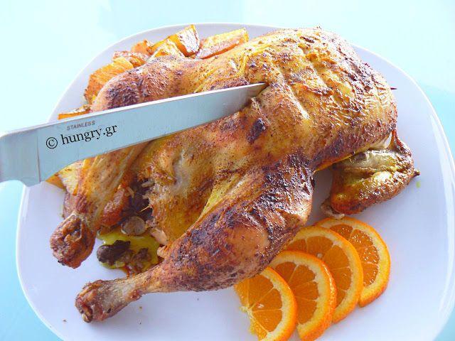 Κοτόπουλο Γεμιστό Ψητό