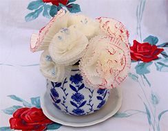 floral decoration from cupckae liners for Shavuot