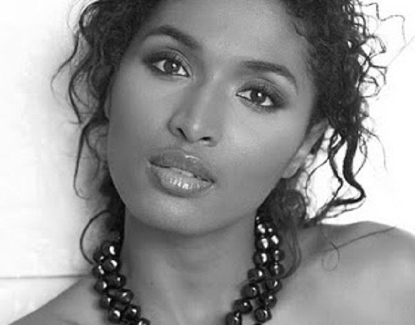 French actress Sara Martins of Death in Paradise. She's really quite beautiful, isn't she?