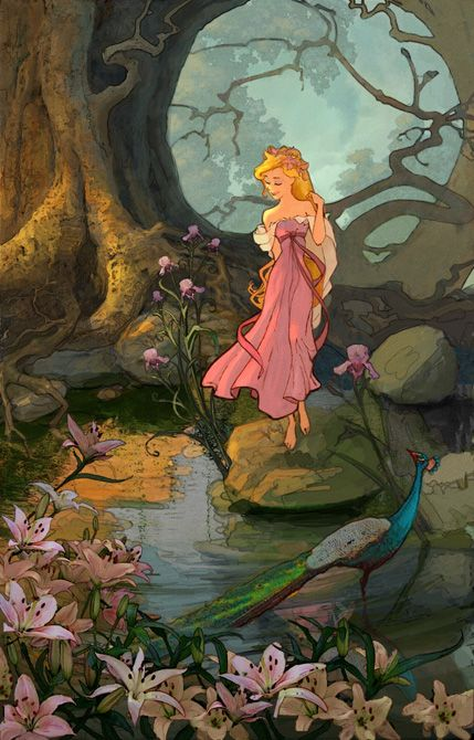 Lisa Keene's concept art for Enchanted.  #enchanted #disney #disneyconceptart