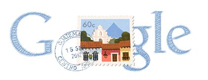 Google Doodle of the Day - Guatemala Independence Day 2012
