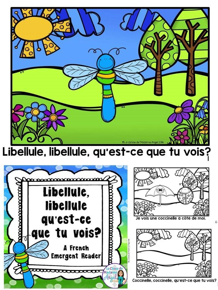 Le printemps arrive!  Introduce your French students to Spring with this fun patterned emergent reader in French!