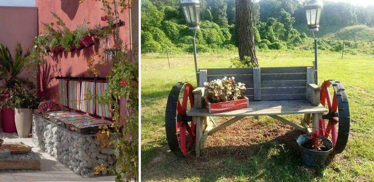 10 ötlet, hogyan készíts könnyedén padot a kertedbe!