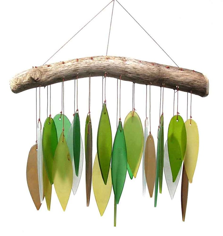 Glass and Driftwood Chimes
