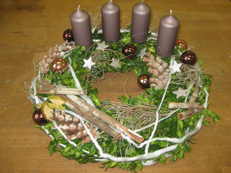 Adventní věnec - Vánoční elegance