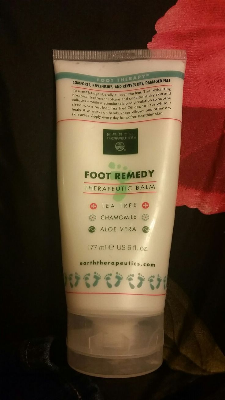 Foot Remedy, smooths feet and deodorizes them.