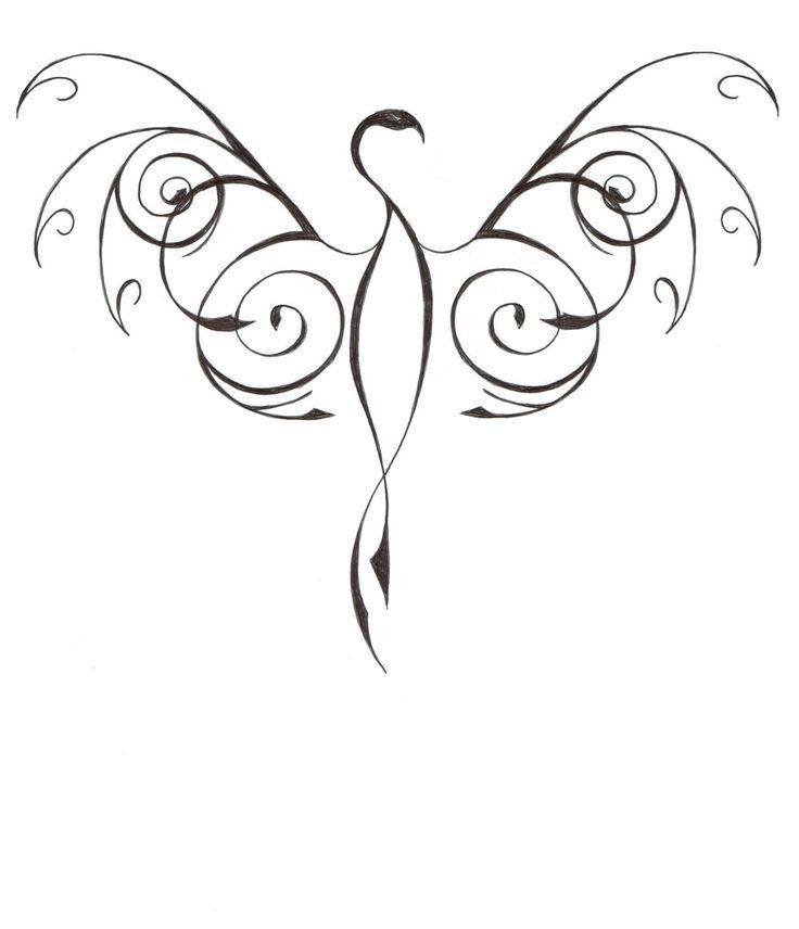 Les 25 meilleures id es de la cat gorie mod le de tatouage de ph nix sur pinterest phoenix - Modele de tatouage ...