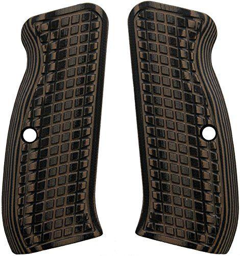 LOK Grips Grenade CZ 75 Full Size Grips (Brown/Black)