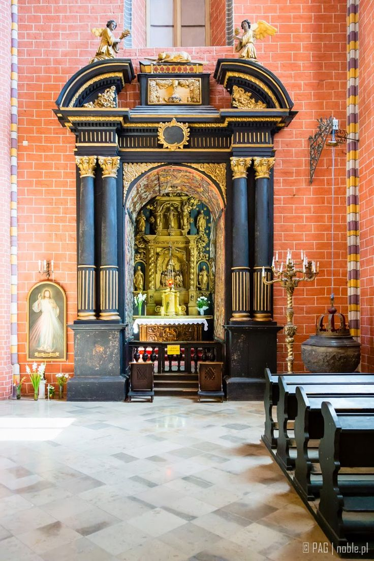 The aisle of the parish Church of the Assumption of the Blessed Virgin Mary in Chelmno (Culm), Poland