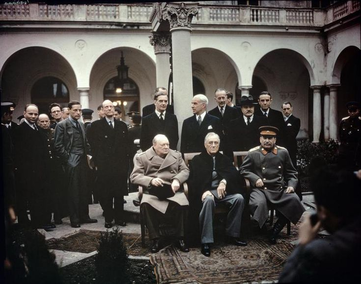 The Yalta Conference, Crimea, February 1945 TR2828 Jalta - Wiki + => http://polishgreatness.blogspot.de/2012/02/yalta-conference-secrets-lies-and.html