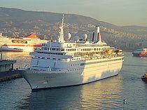 Το Boudicca σε διαδικασία πλευρίσματος στον Πειραιά. 27/09/2008.
