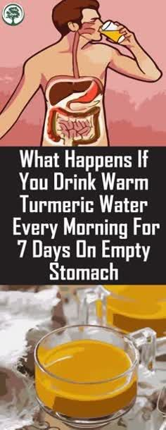 Do You Know What Happens If You Drink Warm Turmeric Water Every Morning For 7 Days On Empty Stomach!! #turmeric #water #everymorning – milena
