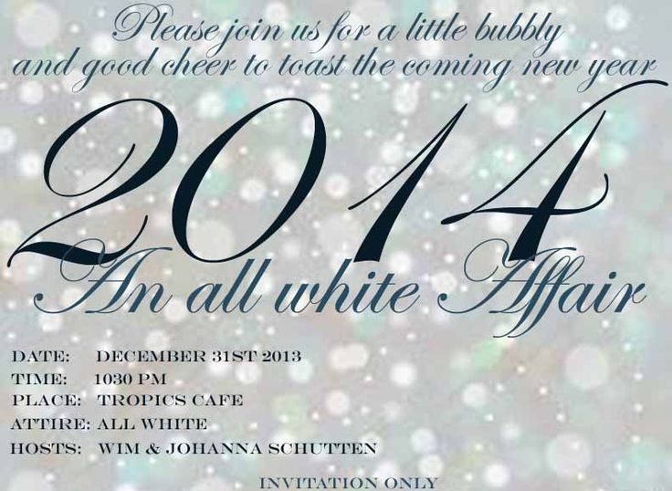 Happy New Year White Party
