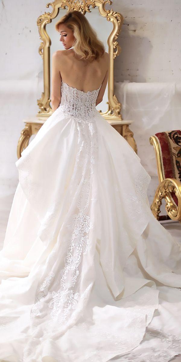 30 Beautiful Wedding Dresses By Top USA Designers ❤ beautiful wedding dresses a line strapless lace open back sarah jassir ❤ See more: http://www.weddingforward.com/beautiful-wedding-dresses/ #weddingforward #wedding #bride