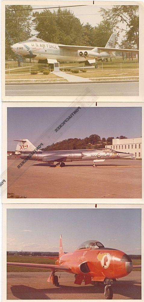 RCAF USA Lot 3 Military Jets CF-104 Starfighter B-47E Stratojet Vtg 3x5 Photos