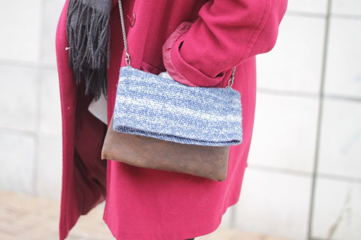 Hæklet taske - læder og garn    Crochet bag - leather and yarn    www.cicitive.dk