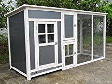 Cool Dad Luke built this terrific mid century modern style chicken coop -- to match the retro playhouse he built for his kids. Surely a design to crow about!