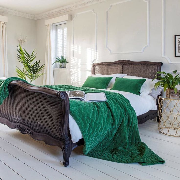 We're so excited to yet again be shortlisted for a prestigious @housebeautifuluk award this year not only in Dream Bedroom (for our beautiful Charcoal Rattan bed image above featuring our stunning Plushious Emerald Green Velvet Bedspread) but also our Kerala Pom Pom Pouffe (Best Soft Furnishings) and The Buttons Grey Ottoman (Best Storage). We're keeping everything crossed for November - wish us luck #frenchbedroomcompany #nothingisordinary #whereilive #simplepleasures #atmine #calmversation…
